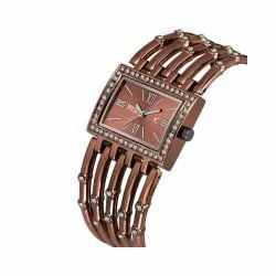 Casual,Party-Wedding Brown Analog Wrist Watch, Model Name/Number: BRSQ-129COF
