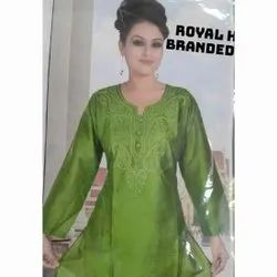 Rayon Formal Wear Ladies Designer Kurtis, Wash Care: Handwash
