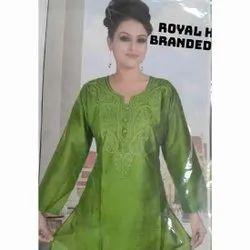 Rayon Formal Wear Ladies Designer Kurtis, Wash Care: Handwash