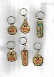 Golden Plated Metal Keychain