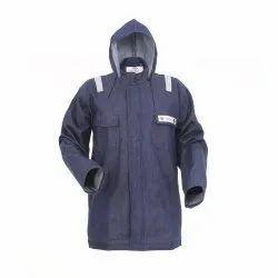 Proban Treated Denim Fire Resistant Arc Resistant Safety Jacket, Size: Xs - Xxl