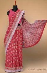 Ladies Casual Wear Printed Cotton Saree, 5.5 m