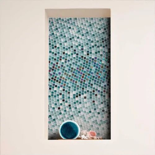 Crystal Glass Mosaic Gradation for Walls