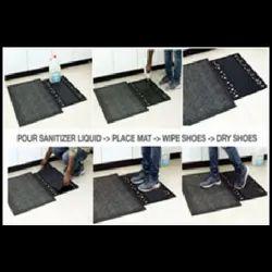 Sanitising Footbath Mat With One Wet Insert Coir Brush