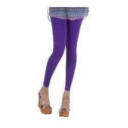 Straight Fit Plain Ankle Length Viscose Lycra Legging