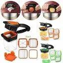 5 in 1 Multifunction Vegetable Cutter Manual Vegetable Quick Dicer Fruit Chopper