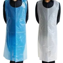 PE Blue & White Disposable Aprons, For Safety & Protection
