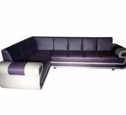 L Shape Wooden 6 Seater Corner Sofa Set, For Living Room
