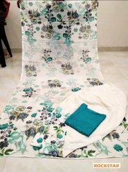 Rockstar stitched Chikankari cotton salwar suit, Dry clean