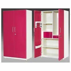 Red Metal Office Almirah, No. Of Shelves: 5 Shelves