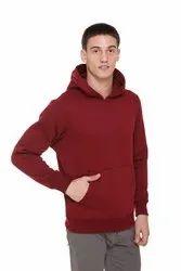 HARBORNBAY Men''s Fleece Hooded Sweatshirt Maroon
