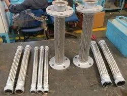 Stainless Steel Round SS Hose Assy With Flanges, For Industrial