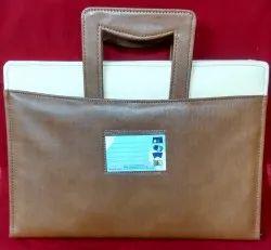 Brown Zip Closure Elegant Designer Handle For Office, Packaging Type: Box Packing