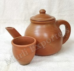 Clay Terracotta Handmade Kettle, For Kitchen Storage