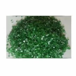 Green Crushed Glass Cullets, Size: 4-9mm