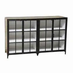 Iron Black Storage Cupboard