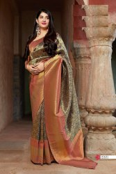 ANK Enterprise Wedding Soft Banarasi Silk Weaving Saree, With Blouse Piece