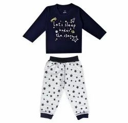 Cotton Multicolor T-shirt & Pajama Set (Full Sleeve) For boys and Girls, Age Group: 12m To 4y