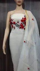 Ladies Designer Embroidered Dress Material
