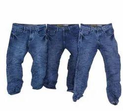 Denim Plain Mens Stretchable Jeans, Waist Size: 28-32