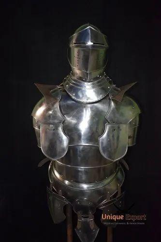 Medieval Knight Arms /& Pauldrons Battle Warrior Costume 18 Gauge Steel