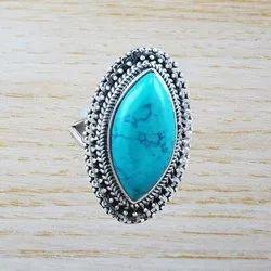 Nice Turquoise Gemstone Fashion Jewelry Ring Wr-2830