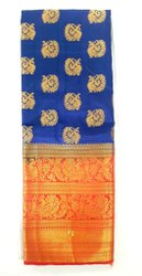 Wedding Wear KANJIVARAM BORDER Balatan Silk Saree, 6.3 m (with blouse piece)