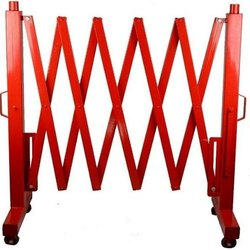 红色温和钢制可扩展道路屏障,33kg