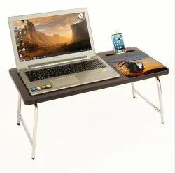 BLUEWUD RioDesk Engineered Wood Multipurpose Foldable Bed Laptop Table with Inbuilt Mobile Stand