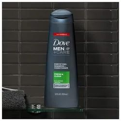 Dove Men Care 2 in 1 Shampoo and Conditioner, Fresh and Clean 12 Ounce