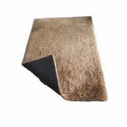 For Office CREAM 5X7 Feet Plain Shaggy Carpet