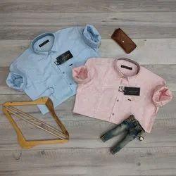 Full Sleeves Mens Designer Light Color Printed Cotton Shirt