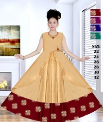 Wedding Wear Stitch Girls Fancy Long Gown