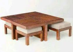 Green Lips Wooden Floor Dining Table