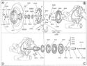 Gear Box And Rear Wheel Flange For Vespa VBB 150