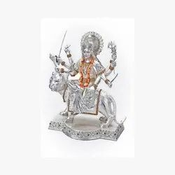 Silver Goddess Durga Figurine (Big)
