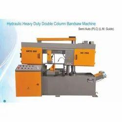 Mild Steel Semi Automatic Hydraulic Heavy Duty Double Column Bandsaw Machine, For Metal Cutting