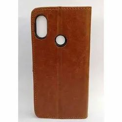 Brown PU Leather Light Weight Mobile Flip Cover