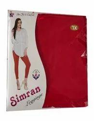 KP Plain Ladies Lycra Simran Legging, Size: XL,XXL