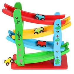 SC1015 - Wooden Ramp Race Track Car Set Toy (Assorted Design), for School/Play School