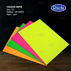 Blue COULOR PAOER, Size: 210 X 297, 100 Sheet