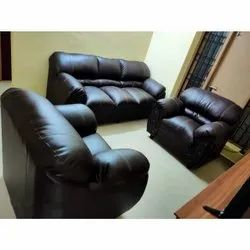 Wooden Brown Modular Sofa Set, For Home, Seating Capacity: 5 Seater