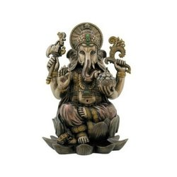 Brown Tranquil Bappa Figurine, Size: 60x60x44