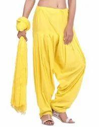 Jaipur Kurti Pure Cotton Neon Yellow Patiala Salwar and Dupatta Set