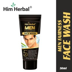 Mineral TRANSPARENT Him Herbal Men Fairness Facewash, Age Group: Adults, Packaging Size: 50ml