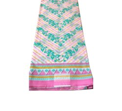 Multicolor Ladies Fancy Supernet Saree, 5.5m