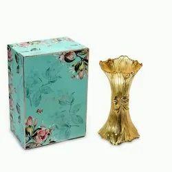 Golden Fluted Sculpture Vase (Medium)
