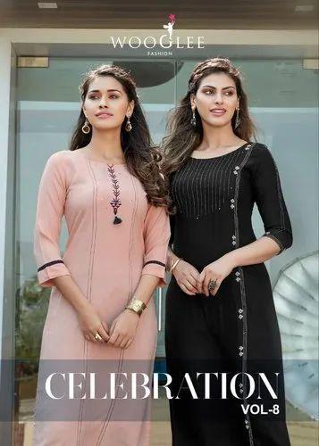 Celebration Vol 8 By Wooglee kurti plazo wholesaler