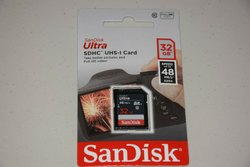 SanDisk 32GB 48mb/s Ultra SDHC UHS-I Memory Card For Camera