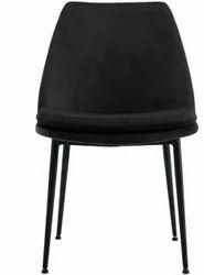 Black Metal Velvet Chair